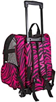 Pet Roller Carrier and Backpack for Dogs and Cats up to 20 Lbs. [14 In. X 10 In. X 19 In.]