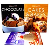 Food Lovers 3 Cookbooks Collection Set Pack Cakes, Chocolate, Dessert (Chocolate, Cakes & Bakes, Dessert)by Christine Hoy