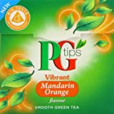 PG tips Mandarin Orange Green Tea Pyramid Teabags 28g (Pack of 4, Total 80 Tea Bags)