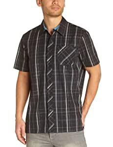 O'Neill Triumph Chemise manches courtes homme Black AOP FR : 40 (Taille Fabricant : M)