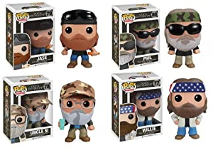 Duck Dynasty Pop Vinyl Figures - SET OF ALL FOUR - Jase, Uncle Si, Willie and Phil