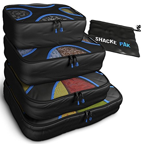 Shacke Pak - 4 Set Packing Cubes - Travel Organizers With Laundry Bag front-1015270