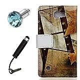 Lusee® PU Kunstleder Tasche für Wiko Fever Special