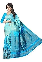 Durga Emporio Blue Banarsi Silk With Jacquard Ocassion Saree