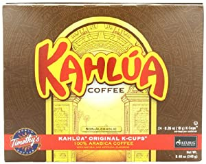 Timothy's World Coffee, Kahlua Original, K-Cup Portion Pack for Keurig K-Cup Brewers 24-Count  (Pack of 2)