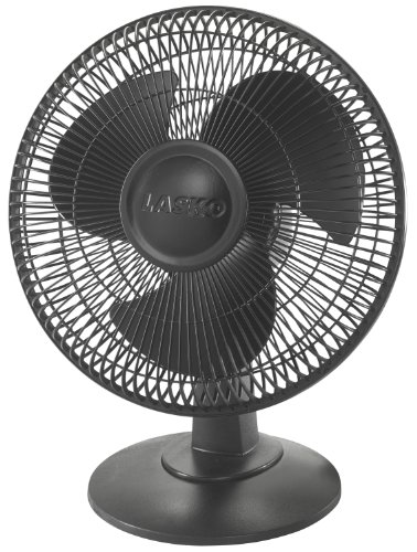 "Lasko 2017 12"" Table Fan, Black"