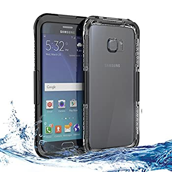 VEGO Full Body Sealed Waterproof Dirtproof Snowproof Durable Case Cover with Touch Responsive Front Screen Protector for Samsung Galaxy S6 Edge+
