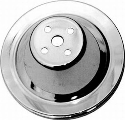 Racing Power Company R9600 Chrome Swp Upper Single Groove Water Pump Pulley For Small Block Chevy