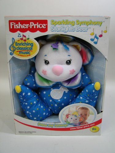 51yAHbzyG9L Cheap Price Fisher Price Sparkling Symphony Starlights Bear Musical Baby Toy
