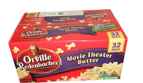 Orville Redenbacher'S Movie Theater Gourmet Popping Corn Microwave Popcorn 32 Bag Box