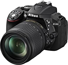 "Nikon D5300 - Cámara réflex digital de 24.2 Mp (pantalla 3.2"", estabilizador óptico, vídeo Full HD), color negro - kit con objetivo AF-S DX 18-105mm VR [importado]"