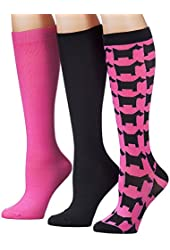 Tipi Toe Women's 3-Pack Colorful Patterned Knee High Socks