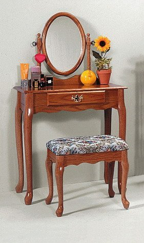 Heirloom Oak Vanity Set
