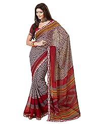 Indian Designer Sari Cute Floral Printed Faux Georgette Saree By Triveni - B00NGFCA4A
