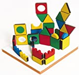 Edushape Magic Shapes Soft Foam Magnetic Construction Toy - 54 pcs