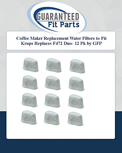 Coffee Maker Replacement Water Filters To Fit Krups Replaces F472 Duo- 12 Pk By Gfp