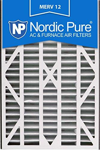 Nordic Pure 16x25x3ABM12-3 Merv 12 Air Bear Replacement Air Filter