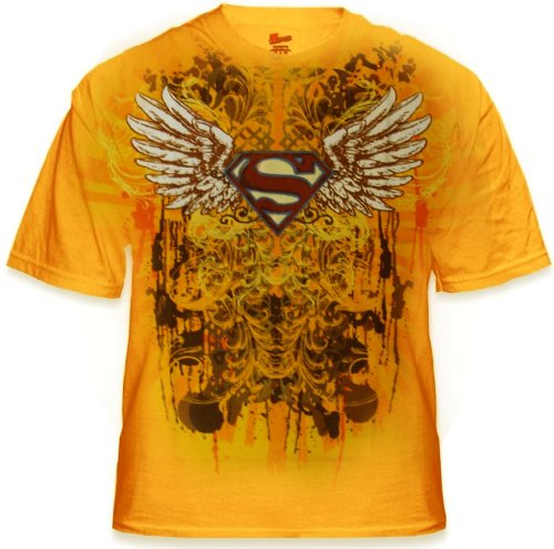 "Superman ""Battle To The End"" Mens T-Shirt (Gold) #28"