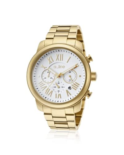 a_line Women's 80163-YG-22 Amor Gold Tone/White Stainless Steel Watch