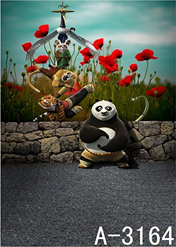 6.5 Ft*5 Ft (200cm*150cm) Paul Kung Fu Panda 3d Photography Backgrounds Cloth 3d Baby Backdrop Studio K-3164