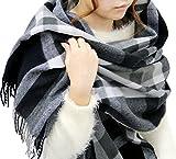 (ジーンズショップ マルカワ) Jeans shop MARUKAWA マフラー 大判 メンズ チェック ストール ユニセックス 男女兼用 冬 8color Free 柄2