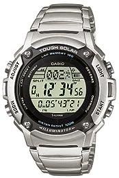 Casio Men's Solar Powered Runners Bracelet Digital Watch W-S200HD-1AVEF