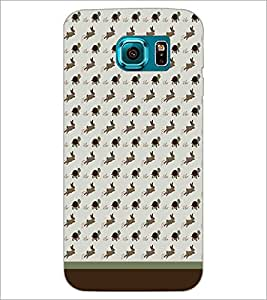 PrintDhaba Animal Pattern D-1762 Back Case Cover for SAMSUNG GALAXY S6 EDGE (Multi-Coloured)