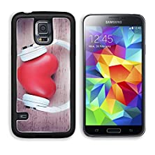 buy Msd Samsung Galaxy S5 Aluminum Plate Bumper Snap Case Headphones And Heart On Color Wooden Background 33305910