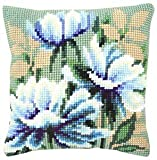 Vervaco Japanese Anemones I Cross Stitch Cushion Multi Colour