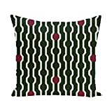 E By Design PHGN277GR26RE4-26 Nuts & Bolts Decorative Holiday Geometric Print Pillow, 26