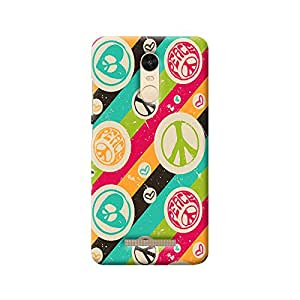 MIKZY Colourful Hearts & Peace Pattern Printed Designer Back Cover Case for Xiaomi Redmi Note 3 (MultiColour)
