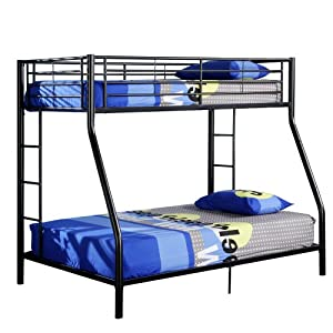 Walker Edison Twin-Over-Full Bunk Bed, Black from Walker Edison
