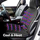 Zone Tech 3-in-1 Car Seat Cushion - Black 12V Automotive Adjustable Temperature Comfortable Cooling, Heating, Massaging Car Seat Cushion