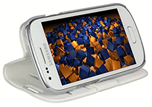 mumbi Tasche im Bookstyle für Samsung Galaxy S3 mini I8190 Tasche weiss