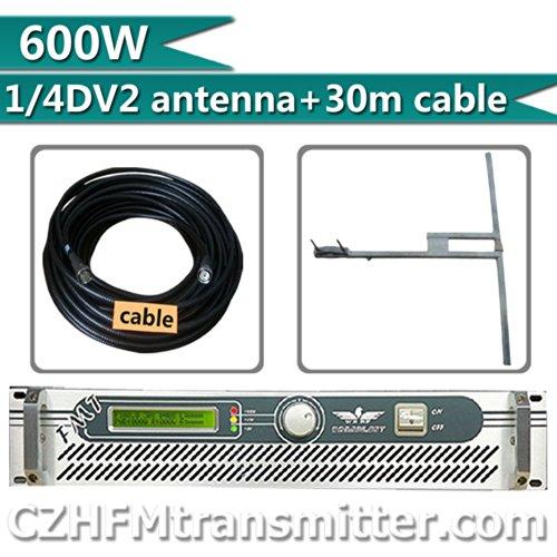 Fmuser 500W 600W Fm Transmitter 87-108Mhz Dv2 Dipole Antenna 30M Cble Kit