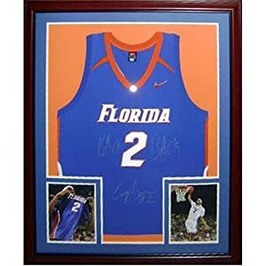 Corey Brewer Autographed Florida Gators (Blue #2) Deluxe Framed Jersey w ... by PalmBeachAutographs.com