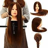 Femme Mannequin LuckyFine 80% Real Cheveux Bruns 24 d'occasion  Livré partout en France