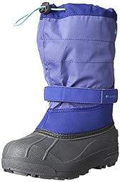 Columbia Youth Powderbug Plus Winter Boot (Little Kid/Big Kid), Purple Lotus/Gulf Stream, 2 M US Little Kid