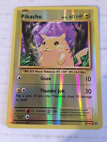 1X Pikachu (35/108) REVERSE HOLO Common Electric -XY Evolutions -NM- (All Omega Pokemon Cards compare prices)
