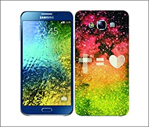 Galaxy Printed 2469 Nebula Insignia Love Hard Cover for Samsung A7