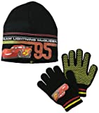 Disney Boys 2-7 Cars Mcqueen Team Beanie and Glove Set