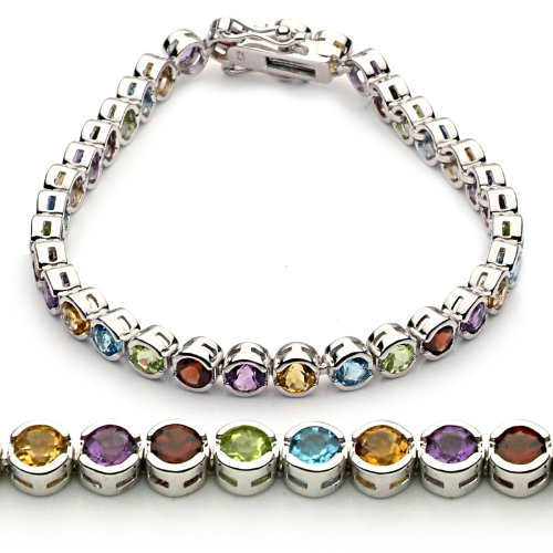 Sterling Silver Multi-Color Natural Gemstone