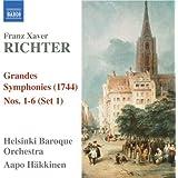 Richter, F.X.: Grandes Symphonies (1744), Nos. 1-6 (Set 1) (Helsinki Baroque, Hakkinen)