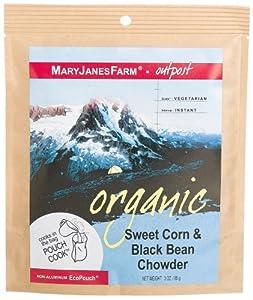 MaryJanesFarm Sweet Corn & Black Bean Chowder, 3.0-Ounce Bags (Pack of 6)