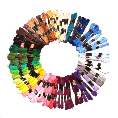 Lowest Price! 100 x 8m Assorted Cotton Embroidery Threads / Skeins by Kurtzy TM