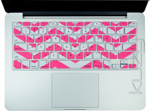$$  Kuzy - Pink Chevron Zig-Zag Keyboard Cover for MacBook Pro 13
