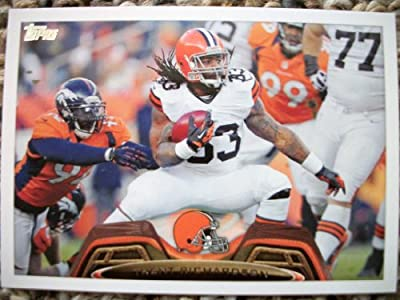 2013 Topps #160 Trent Richardson Trading Card in a Protective Case - Cleveland Browns