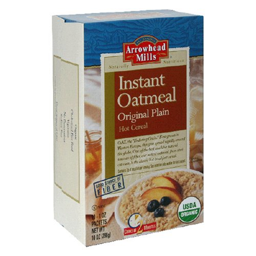Buy Arrowhead Mills Instant Oatmeal, Original Plain, 1-Ounce Packets, 10-Count Box (Pack of 5) (Arrowhead Mills, Health & Personal Care, Products, Food & Snacks, Breakfast Foods, Cereals)