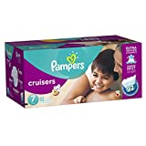 Pampers Cruisers Diapers, Economy Plus Pack, Size 7, 92 Count