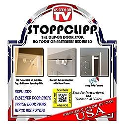 4-PACK StoppClipp Door Stopper, Heavy Duty